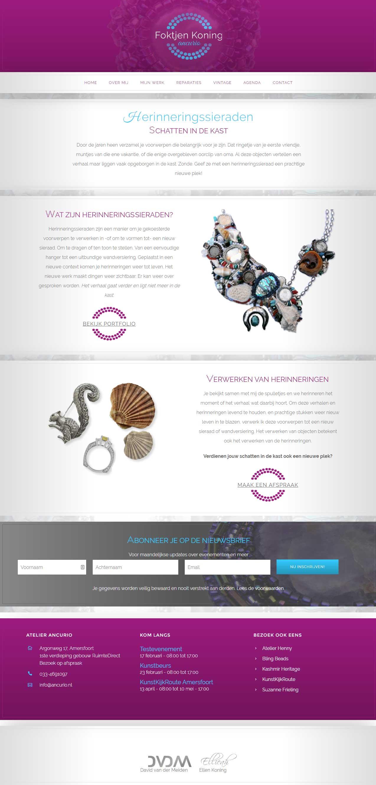 Ancurio Website Schermopname